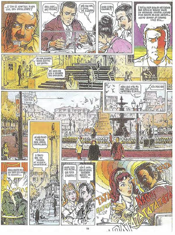 """strona z pierwszego numeru magazynu Visão z 1 kwietnia 1975 przedstawiająca fragment najbardziej znaczącej i mającej największe reperkusje historyjki umieszczonej na jego łamach: """"Matei-o a 24/Zabiłem go dwudziestego czwartego"""" (Victor Mesquita/Machado de Graça)"""