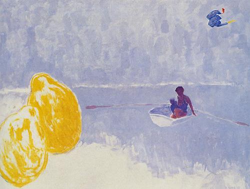"""António Dacosta, """"Dois limões em férias"""", 1983. Colecão particular do Dr. Luis Sáragga Leal"""